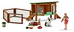 Rabbits and Hutch Toy