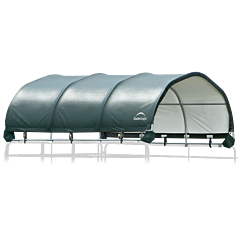 Corral Shelter Powder Coated 12'X12' - Green