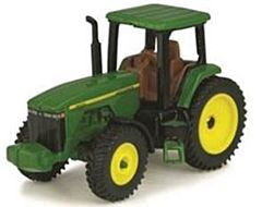 Modern Tractor With Cab - Green