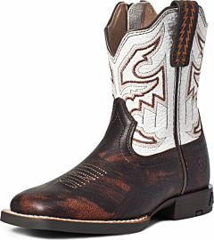 Kids Marbled Western Boot