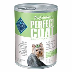 12.5 oz True Solutions Perfect Coat Natural Skin & Coat Care Adult Wet Dog Food - Whitefish