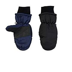 Youth Mitten - Black/Blue, 5-7 Years
