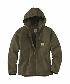 Women's Loose Fit Washed Duck Sherpa Lined Jacket