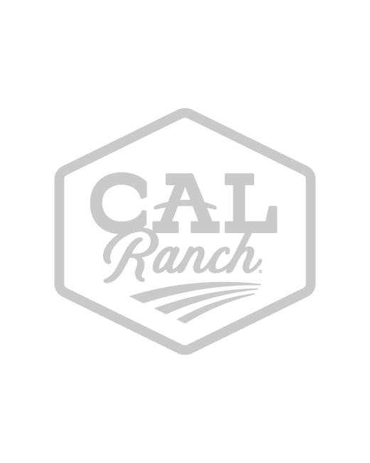 Men's Western Boot Sock - White, L, Regular