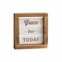 Grace For Today Reversible Tabletop Decor