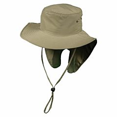 Men's Auger Nylon Boonie With Sun Shield Fishing Hat - Fossil, One Size Fits All