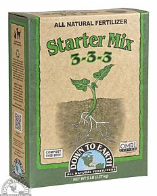 Starter Mix 3-3-3 Fertilizer - 5 lb
