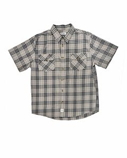 Men's Short Sleeve Flex Fit Plaid Shirt
