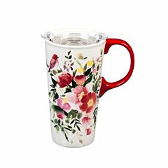 17 oz Happy Life Ceramic Travel Cup With Box