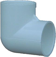 Pvc Pressure Fitting 90-Degree Elbow - White, 1 in