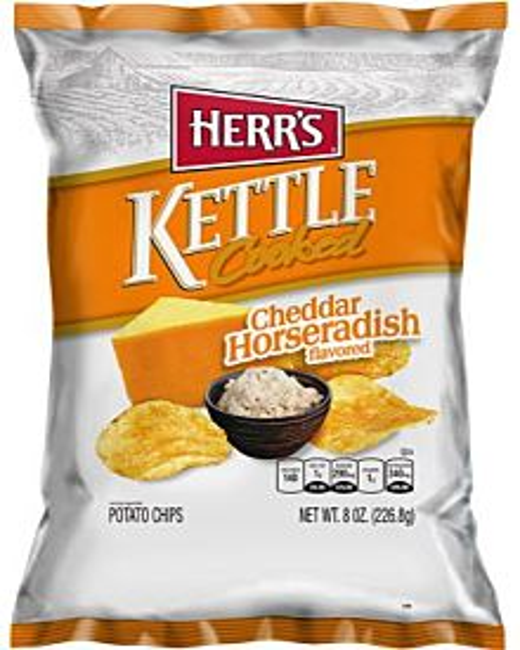 Herr's Cheddar Horseradish Kettle Cooked Potato Chips