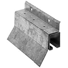 """Galvanized Box Rail Face Mount Covered 8"""""""