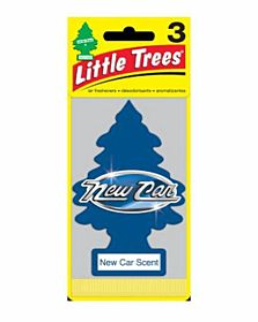 Car Air Fresheners - Blue, New Car, 3 Count