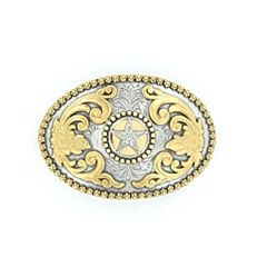 Men's Berry Edge Star Buckle - Silver/Gold
