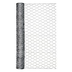Galvanized Hex Netting -Silver, 48 in X 50 ft, 2 in Mesh