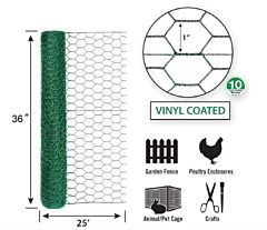 Hex Netting -Green, 36 in X 25 ft, 1 in Msh