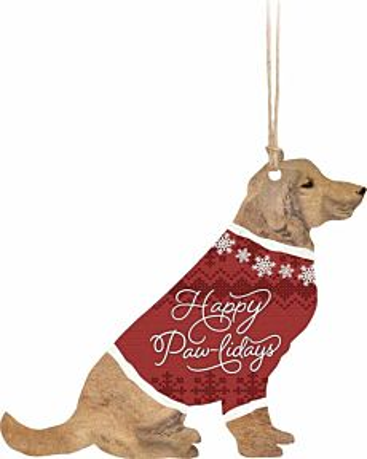 Happy Paw-Lidays Ornament