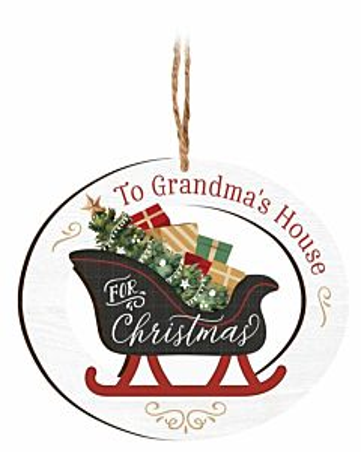 To Grandma's House For Christmas Ornament