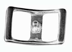 """Plated Conway Buckle 3/4"""" - Nickel"""