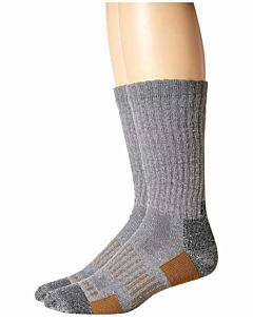Men's All-Terrain Crew Sock 2 Pack - Gray, L