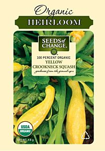 Yellow Crookneck Squash Seed Packet