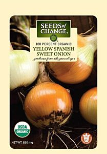 Yellow Spanish Swet Onion Seed Packet