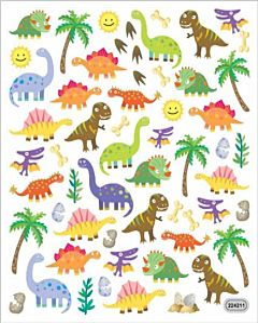Dinosaur Designs Sticker Sheet - Multi, 3 +, 7 in X 8.25 in