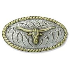 Concho Gold Plated Longhorn, 1-3/4 X 1 In.