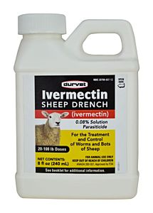 Ivermectin 0.08% Solution Sheep Drench- 8 oz