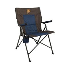 Hard Arm Chair - Navy Blue/Gray, 22 in X 17 in X 36 in