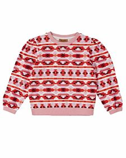 Girls Long Sleeve Southwestern Print Sweatshirt
