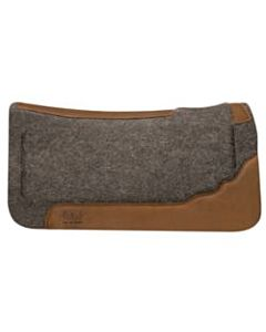 Contoured Layered Felt Pad - Tan, Wool, 31 in X 32 in