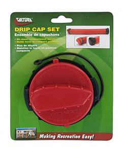 Drip Cap Set - Red/Black, 3 in
