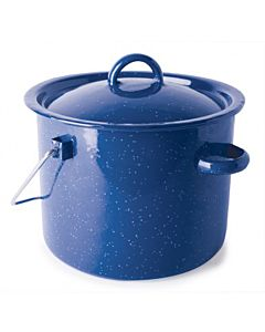 Enamel Straight Pot - Blue, 3.2 qt