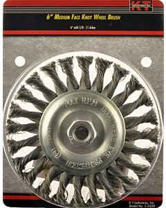 6 In, Knot Wheel Medium 1/2 - 5/8 No Thread