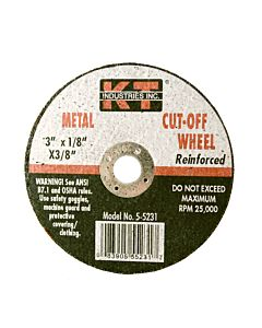 Cut Off Wheel 1/8X3/8 - 3 in