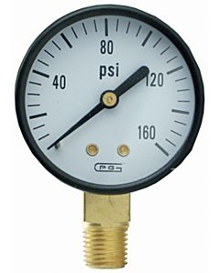 Gauge Bottom Mount - 2 in, 160 Psi