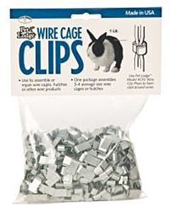 Pet Lodge Wire Cage Clips - 1 Pound