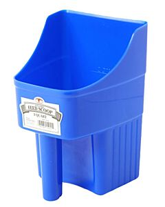 Feed Scoop, Blue Plastic - 3 qt