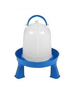 Poultry Waterer With Legs - Blue, 15 qt
