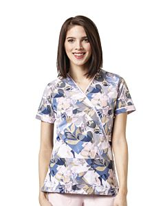 Women's Serenity Print Top, Flower Pop