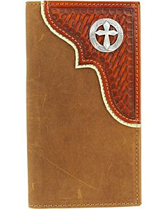 Men's Cross Concho Rodeo Wallet - Brown