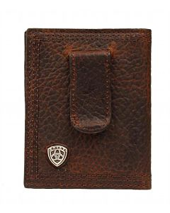 Men's Bifold Concho Money Clip - Brown