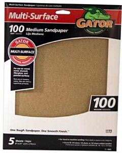 Medium 100 Grit Sandpaper - 9 in X 11 in