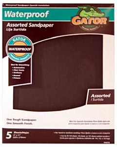 Assorted Grit Sandpaper, 4-Pack - 9 in X 11 in