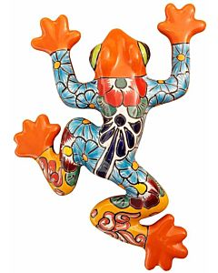 Talavera Wall Frog - Ceramic, 8 in