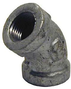 Galvanized 45 Degree Elbow - 1/8 in