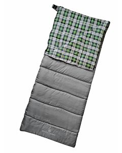 Sleeping Bag 40Deg Camper - Gray/Green, 32 in X 82 in