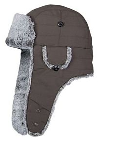 Men's Faux Fur Hat - Brown, One Size Fits All