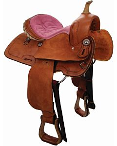 Seat Barrel Racer - Pink, Full, 14in